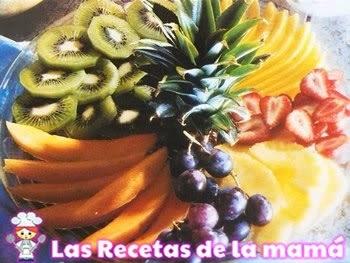 Receta de Fruta fresca con zumo de la pasión