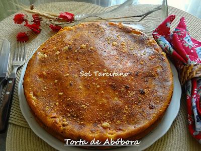 Torta de Abóbora Recheada de Carne Moída com Queijo.