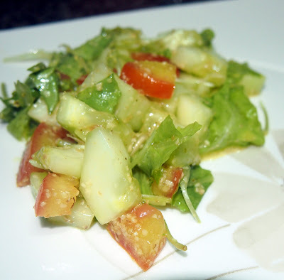 Germen de trigo na salada