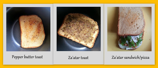 Toasted spicy bread slices (in rice cooker/ toaster/non-stick pan)