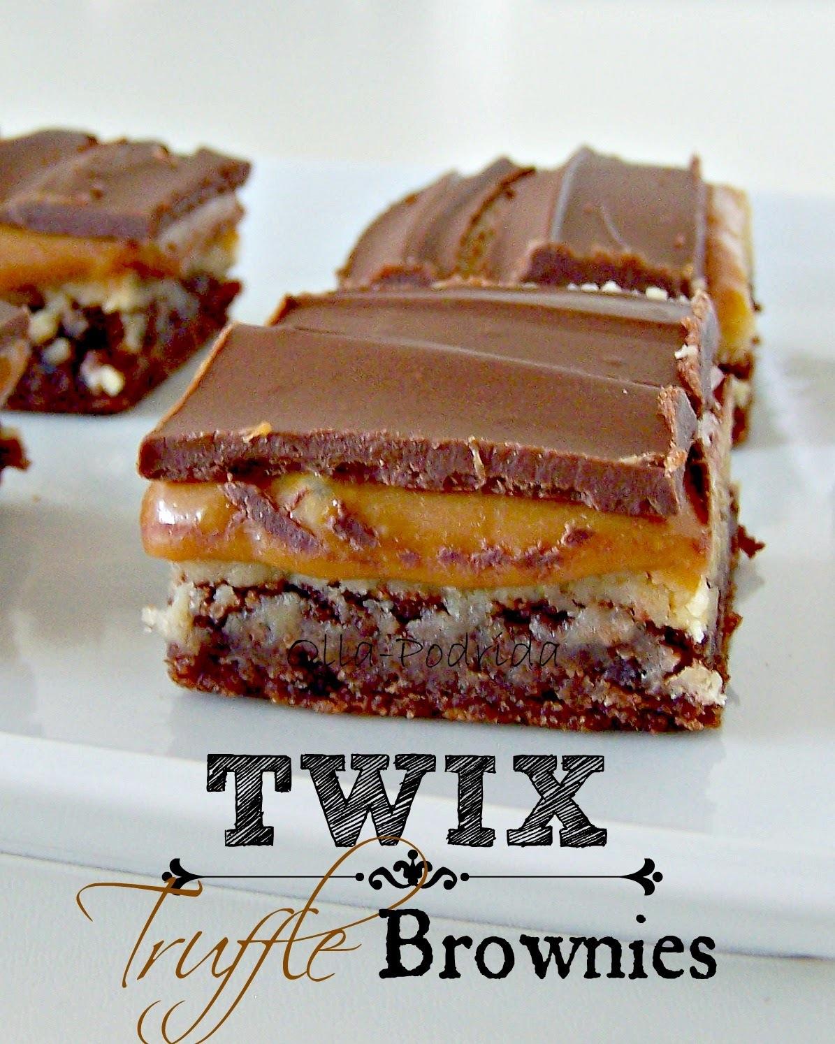 Twix Truffle Brownies