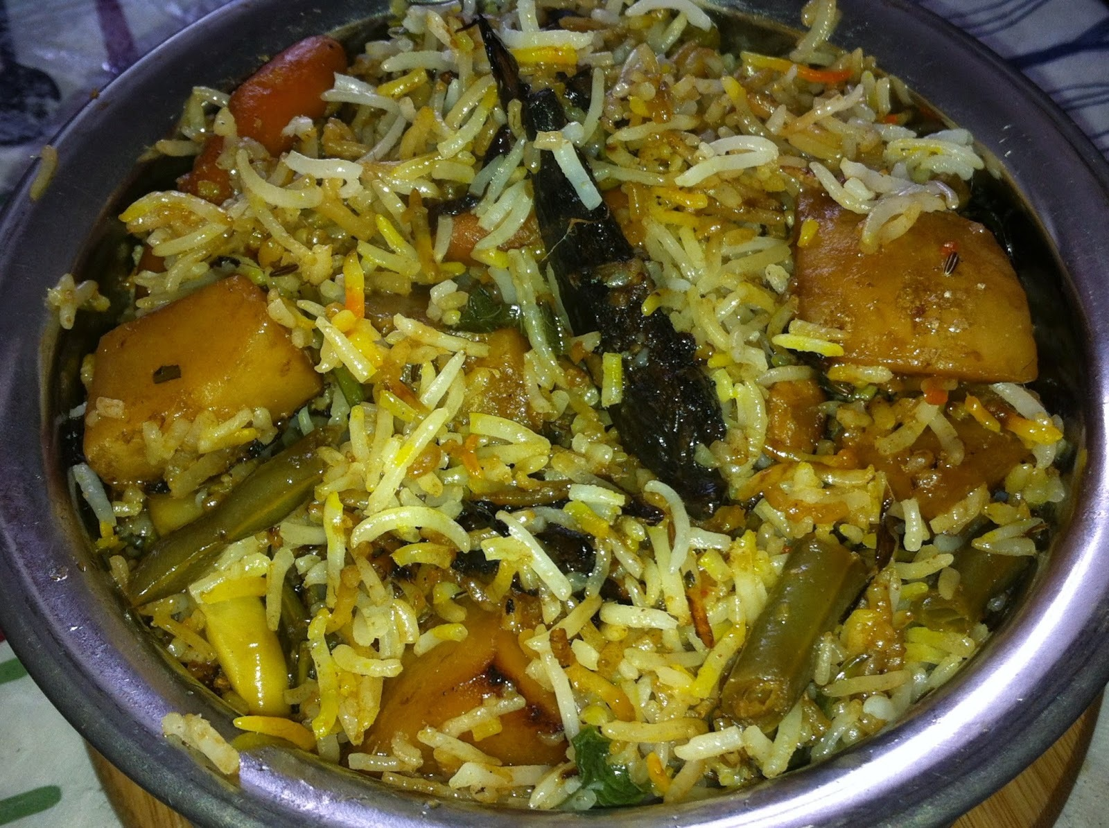 Hyderabad Vegetable Dum Biryani