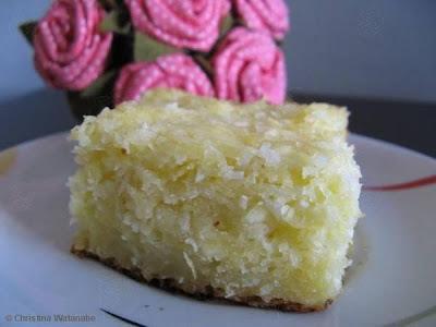 bolo de coco com goma de mandioca