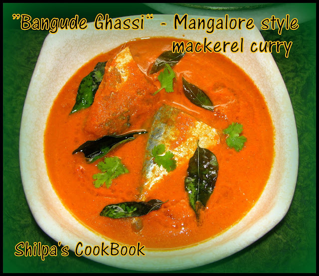 """Bangude Ghassi"" - Mackerel fish curry - Mangalore style"