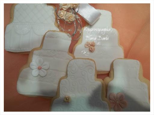 Μπισκότα γάμου με ζαχαρόπαστα