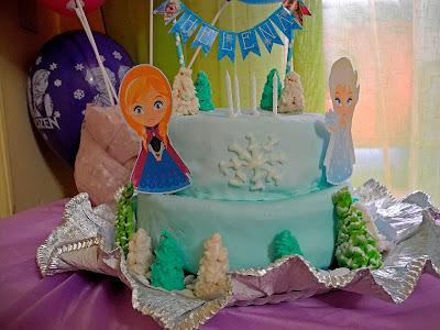 Torta de cumpleaños Frozen