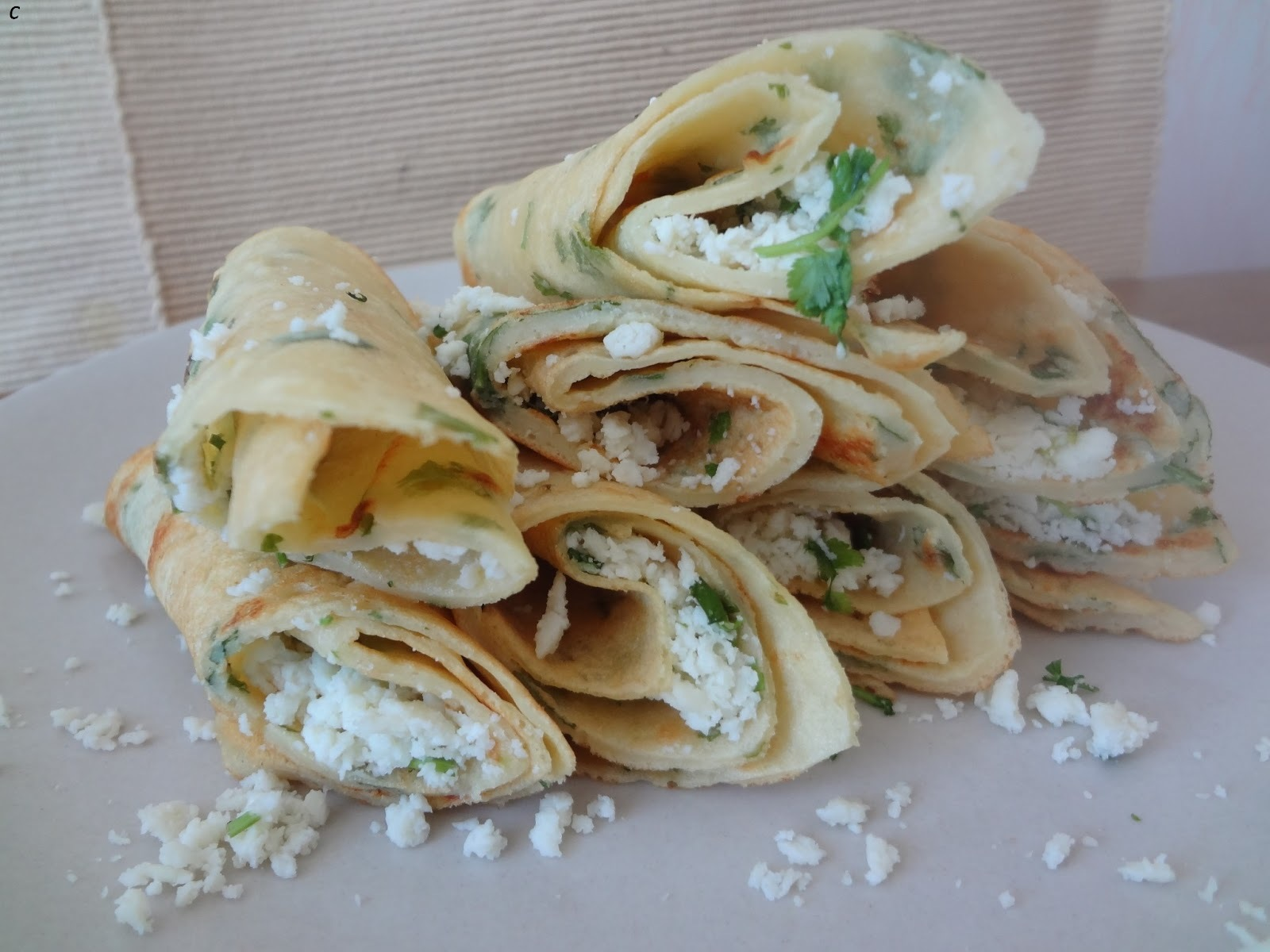 Lentil pancakes/ Moong dal cheela