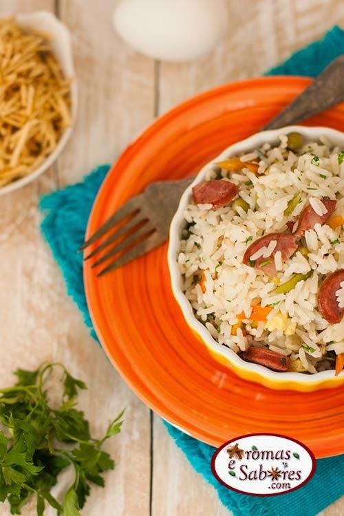Receita de arroz maluco