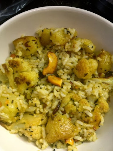 cauliflower potato pulao