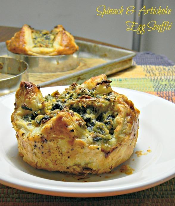 Spinach & Artichoke Egg Souffle Breakfasts ♥ Why My Garbage Has Eaten More Puff Pastry Than Me