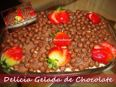 Delícia Gelada de Chocolate