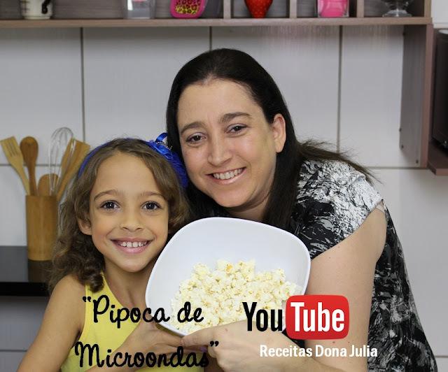 PIPOCA NO MICROONDAS #RECEITA VIDEO