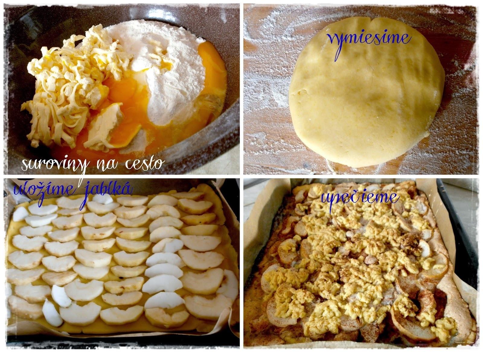 Strúhaný koláč s jablkami