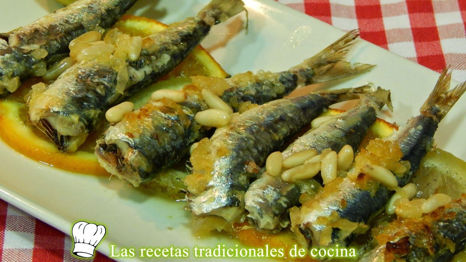 Receta de sardinas a la Valenciana