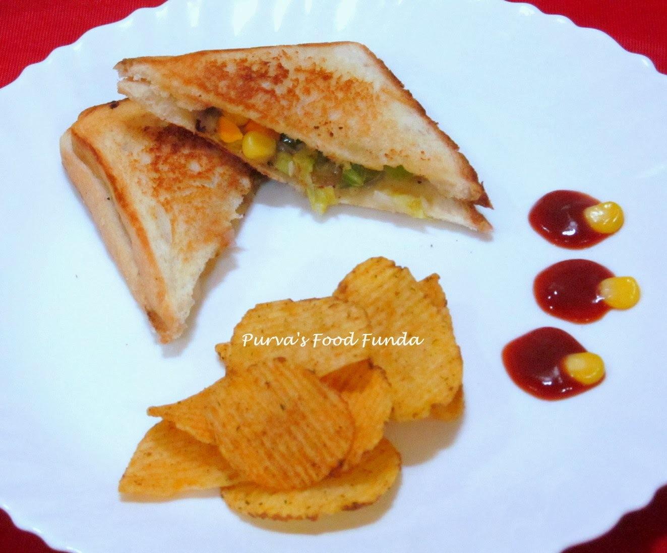 Veggie Meyo Grilled Sandwich