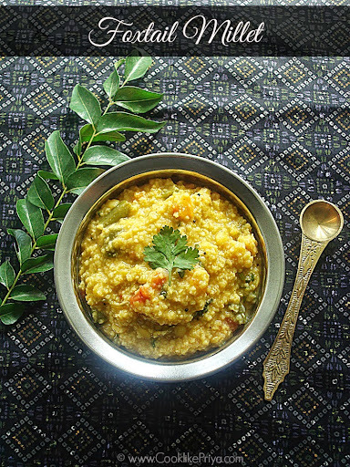 Thinai Paruppu Sadam | Thinai Arusi Paruppu Sadam | One Pot Foxtail Millet Recipe
