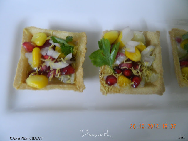 Canapes chaat