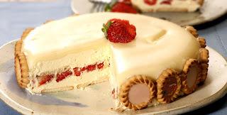 Torta Holandesa de Morango com Chocolate Branco