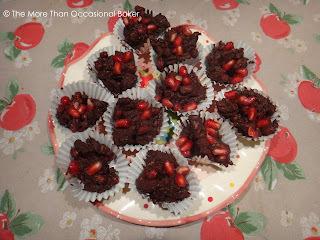 Secret Recipe Club: Dark Chocolate Pecan Pomegranate Clusters