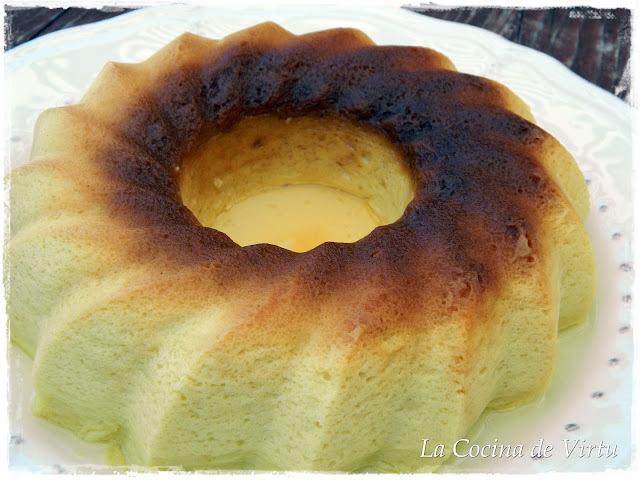 Flan de Manzana al microondas
