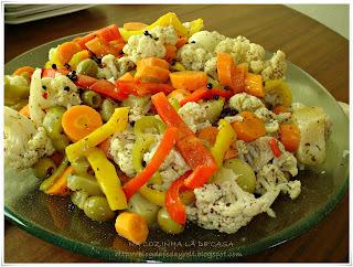 salada de cenoura chuchú vagem