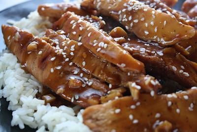 Pollo oriental a la miel (30 minutos)