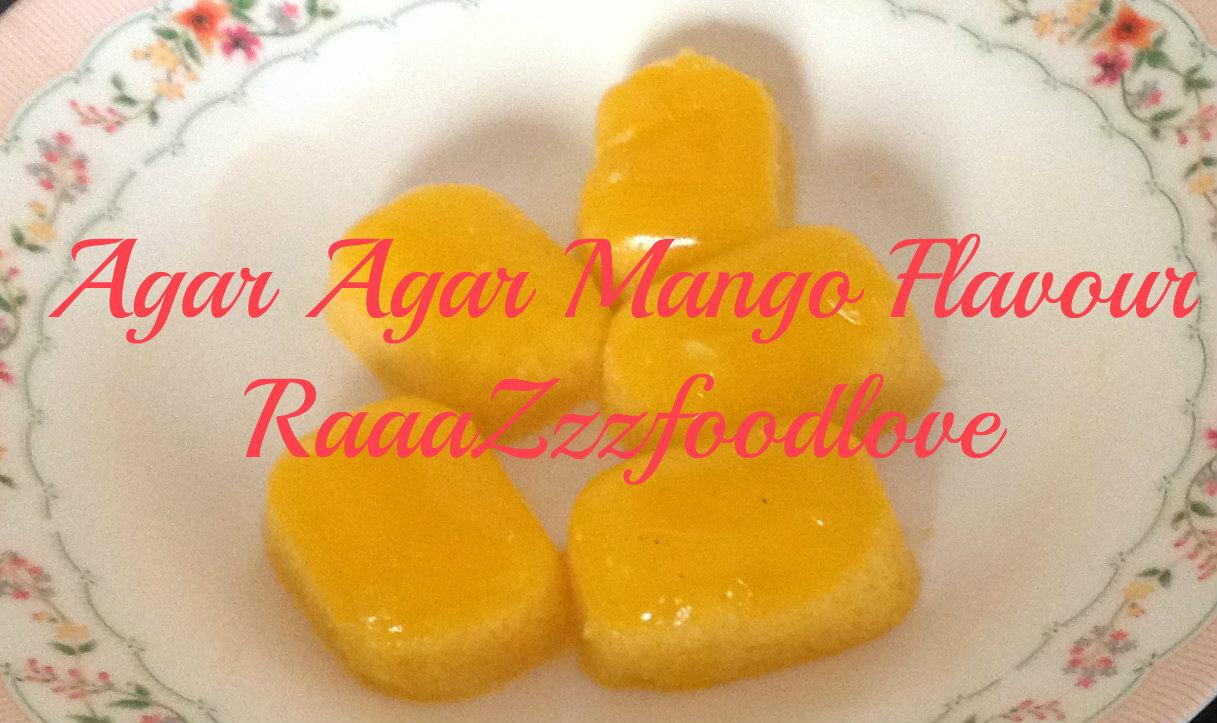 Mango flavoured agar agar