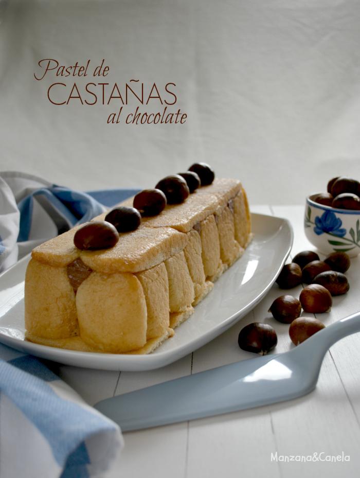 Pastel de castañas y chocolate