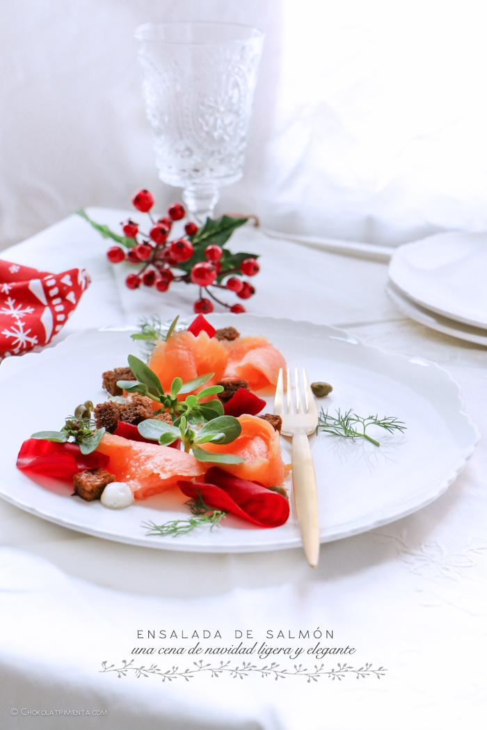 Ensalada de Salmón para la cena de Navidad