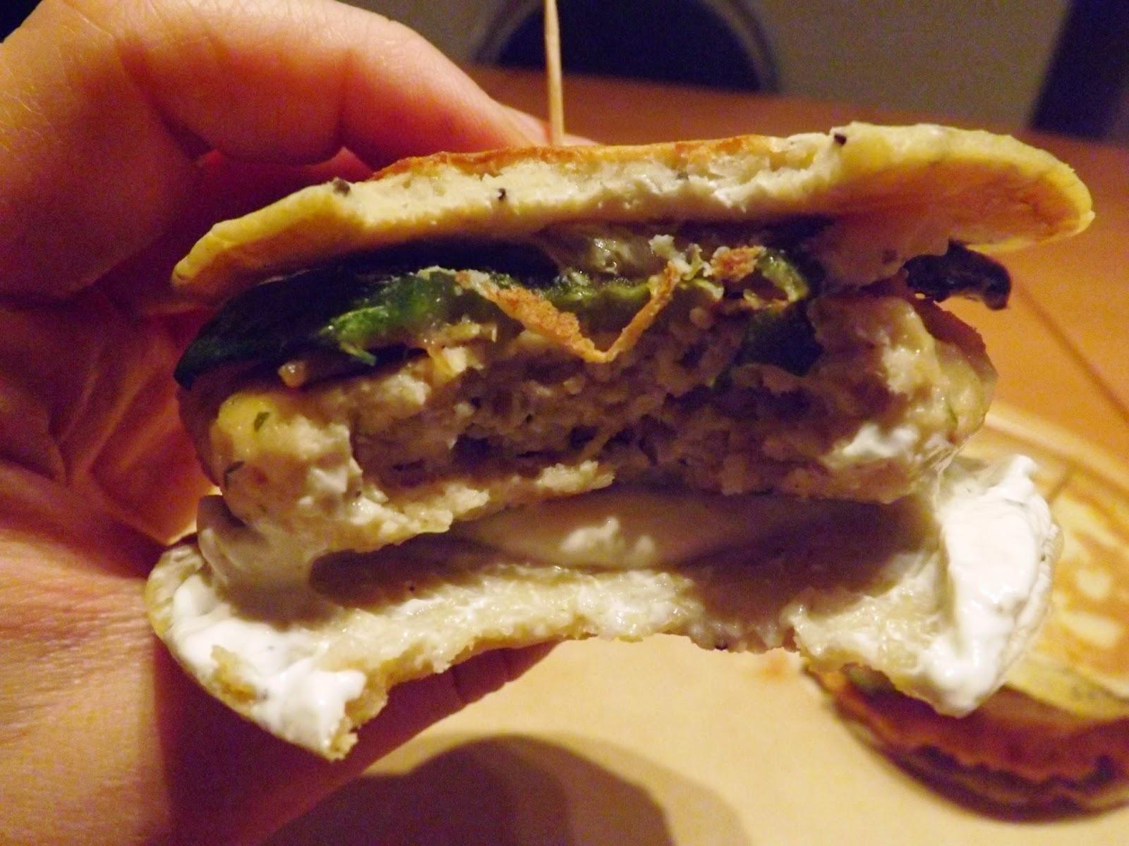 Blinis burger de saumon - pangasius aux courgettes grillées: apéro entrée ou plat...