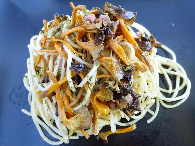 Espaguetis amb camagrocs. La conservació dels bolets