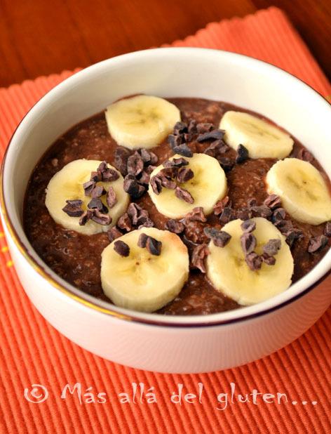 Desayuno con Semillas de Chía y Hojuelas de Quinua / Avena (Receta GFCFSF, Vegana, RAW)