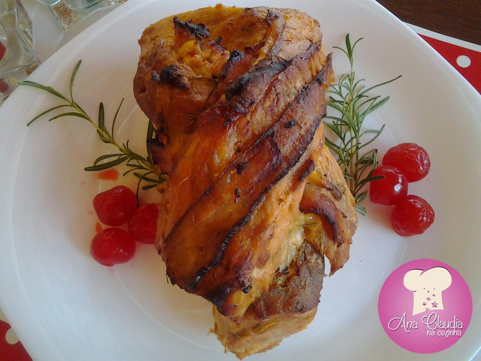 Lombo Trançado com Bacon