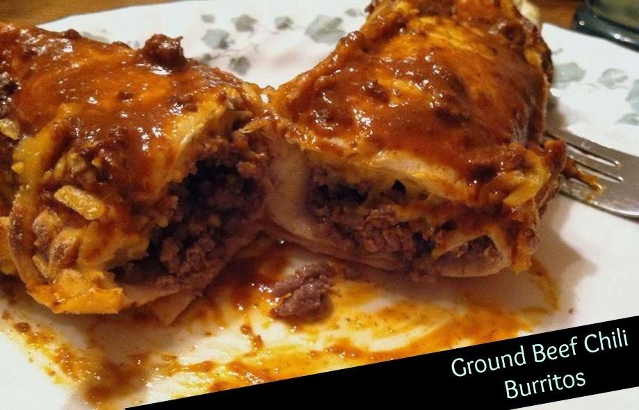Ground Beef Chili Burritos