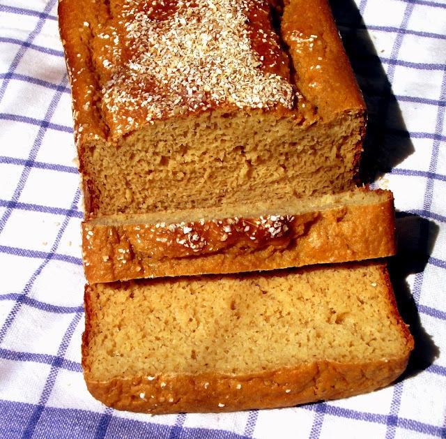 pão caseiro de farelo de aveia microondas