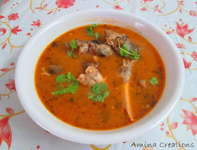 HOW TO MAKE MUTTON PAAYA CURRY (ATTUKAAL PAAYA)