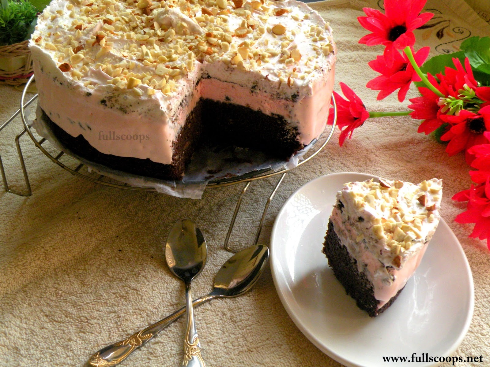 how to make ice cream cake at home in hindi