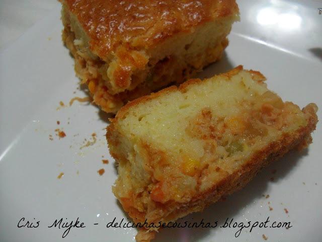 de torta de frango feito na batedeira
