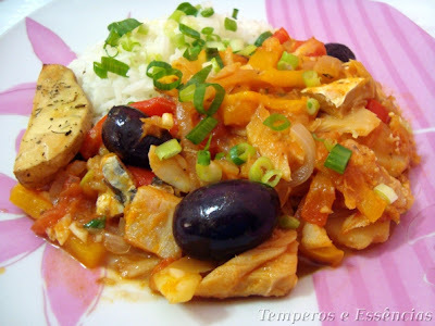Bacalhau com batatas rústicas