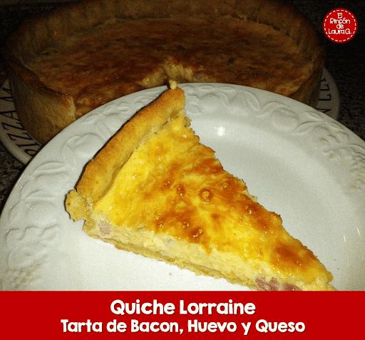 Quiche Lorraine • Tarta de Queso y Bacon o Jamón