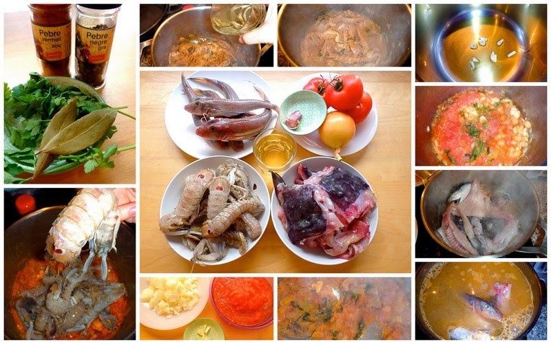 Fumet de peix amb sofregit  ·  Caldo de pescado con sofrito