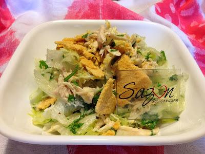 Ensalada de pollo al cilantro