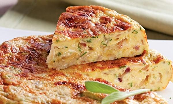 Omelete de forno delicioso