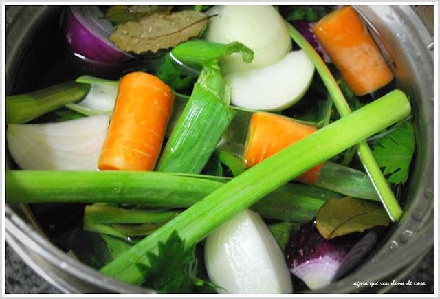 o caldo de legumes