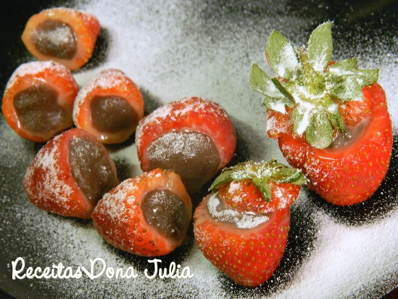 recheio com gelatina de morango e chantilly