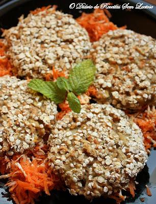 Hambúrguer de Proteína Texturizada de Soja com Cogumelos e Aveia Sem Lactose