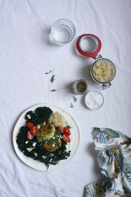 Very Green Quinoa Patties. Veľmi zelené placky z quinoi.