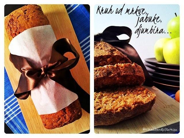 Kruh od mrkve, jabuke i đumbira