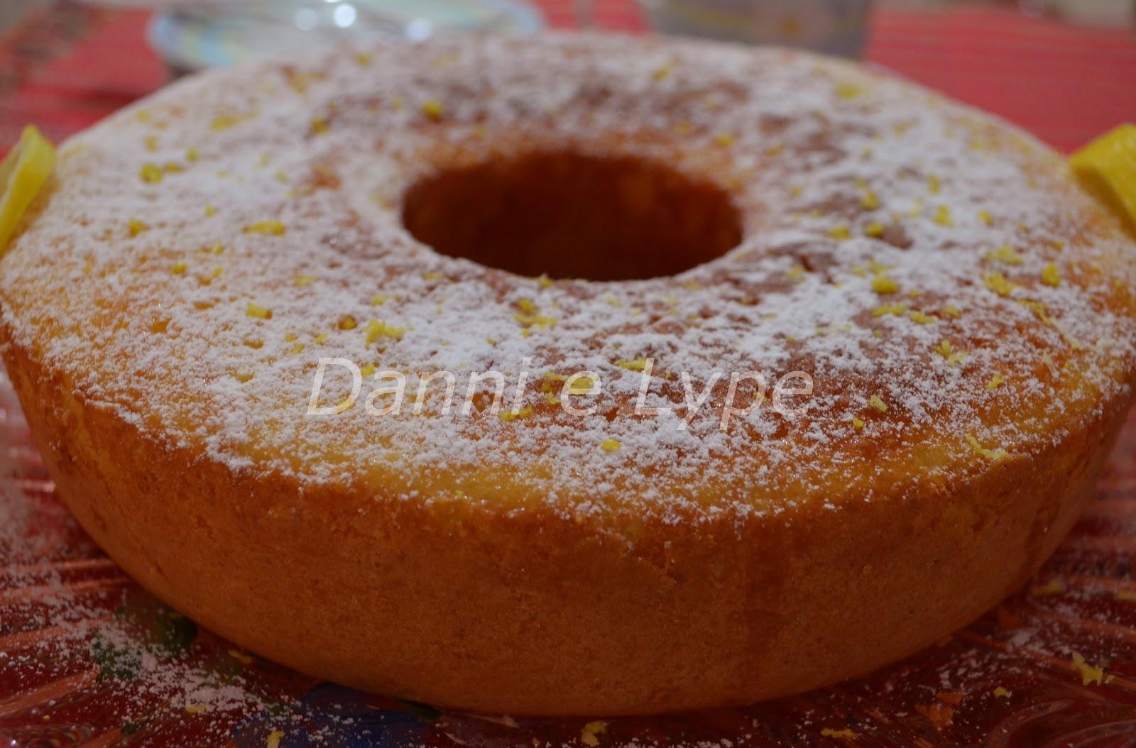 bolo de limão siciliano com iogurte