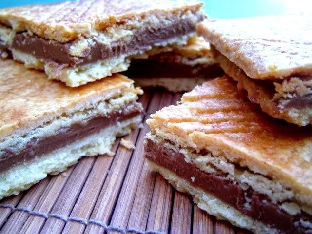 Galletas Sable rellanas de Chocolate y Praliné